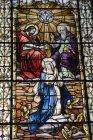 Вікна із зображенням релігійні сцени — стокове фото