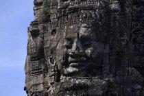 Las caras del templo de Bayon - foto de stock