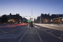 O'connell Street at evening — Stock Photo