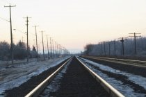Ice Along Train Tracks — Stock Photo