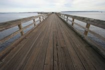 Dock Leading Out To Ocean — Stock Photo