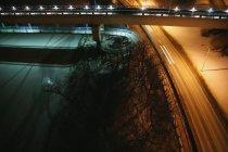 Lrt мосту через північний Саскачеван — стокове фото