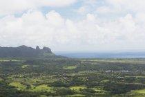 East Kauai avec géant endormi au loin — Photo de stock