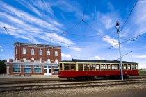 Trolley In Fort Edmonton — Stock Photo