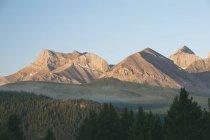 Catena montuosa all'alba, Crowsnest — Foto stock