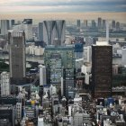 Skyline Al tramonto a Tokyo — Foto stock