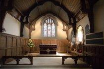Интерьер церкви в Англии — стоковое фото