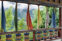 Colored Fabric Hanging In Window — Stock Photo