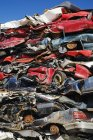Stacked And Crushed Automobiles — Stock Photo