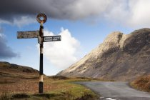 Road Sign, Lake District — Stock Photo