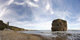 A Large Rock Off The Coast — Stock Photo