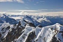 Аэрофотоснимок гор — стоковое фото