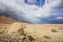 Roches sur un paysage aride — Photo de stock