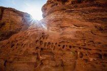 Sunbeams Shining On The Erosion  Patterns — Stock Photo
