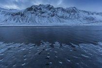 Paysage couvert de neige — Photo de stock