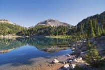 Горное отражение в озере — стоковое фото