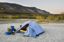 Tent set up at national park northwestern alaska — Stock Photo