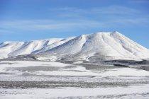 Ранні снігу на надійний краєвид — стокове фото