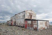 Лагерное строительство; Антарктида — стоковое фото