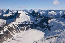 Vue aérienne des montagnes — Photo de stock