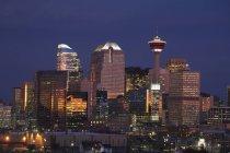 Calgary Skyline All'alba — Foto stock