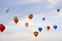 Hot Air Balloons In Flight — Stock Photo