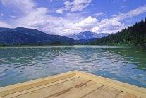 Un lago di miglio, vicino a Pemberton — Foto stock