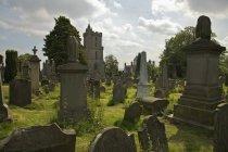 Старое городское кладбище — стоковое фото