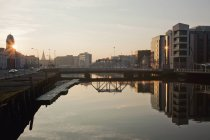 Rio Lee ao pôr do sol — Fotografia de Stock