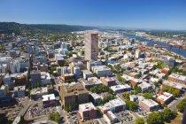 Вид с воздуха на Портленд — стоковое фото