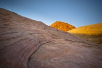 Sunlight Shining On Red Rock — Stock Photo