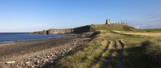Dunstanburgh Castle, England — Stock Photo