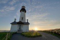 Luz de cabeça Yaquina; Newport, Oregon — Fotografia de Stock