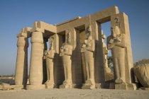 Ramesseum на відкритому повітрі ночліг — стокове фото