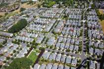 Vista aérea de casas - foto de stock