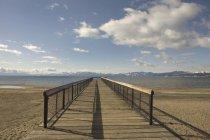 Wooden Dock Into Lake Tahoe — Stock Photo