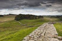Hadrian's Wall; Northumberland, England — Stock Photo