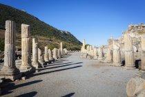 One of main roads of  Ephesus — Stock Photo