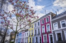 Colourful row housing — Stock Photo