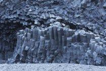 Hexagonal basalt columns — Stock Photo