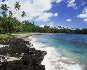 Пісочний пляж з дерева — стокове фото