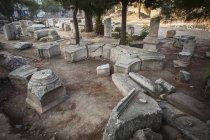 Stein-Ruinen am biblischen Standort — Stockfoto