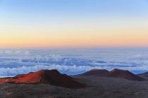 Cinder cones and caldera — Stock Photo
