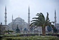 Блакитна мечеть в зимовий період — стокове фото