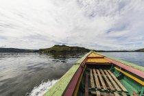 Boat on Lake Sentani, Papua, Indonesia — Stock Photo