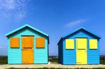 Two colourful buildings — Stock Photo