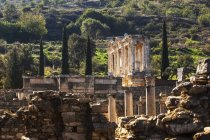 Ruins of Celsus Library — Stock Photo
