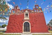 Teabo convento de los Santos Pedro y Pablo - foto de stock
