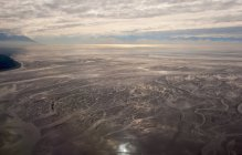 Aerial view of tidal flats — Stock Photo