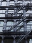 Fire escapes on side — Stock Photo